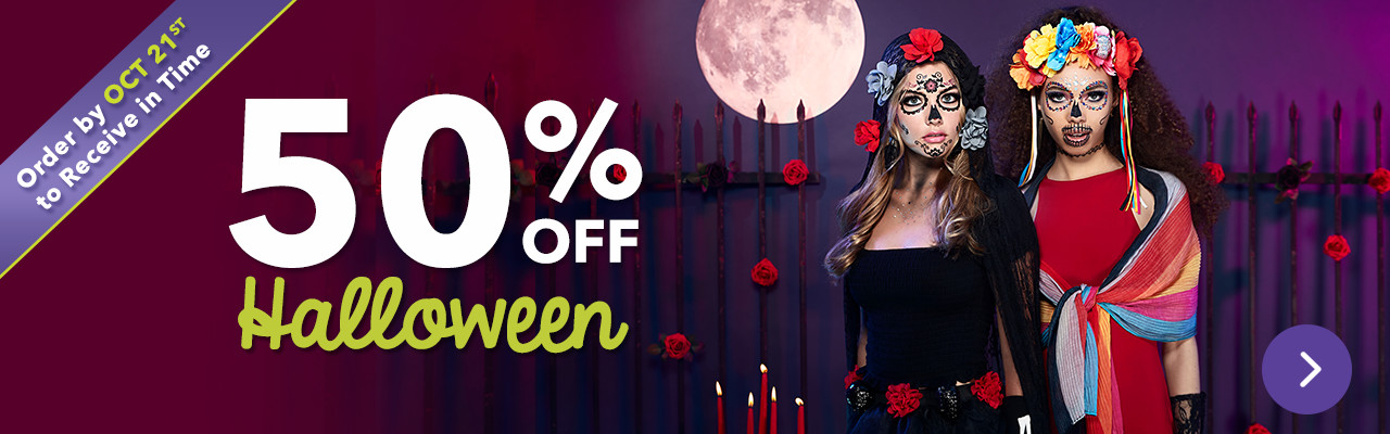 50% OFF Halloween! Order by Oct 21st to Receive in Time