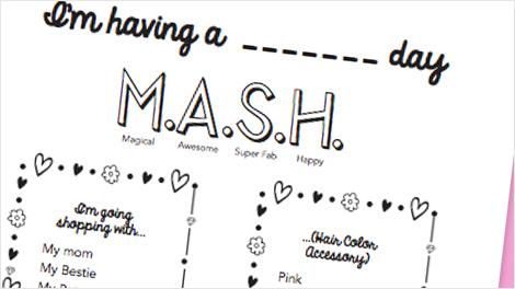 MASH Printable