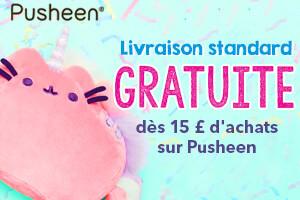 Livraison standard GRATUITE dès 15€ d'achat sur Pusheen