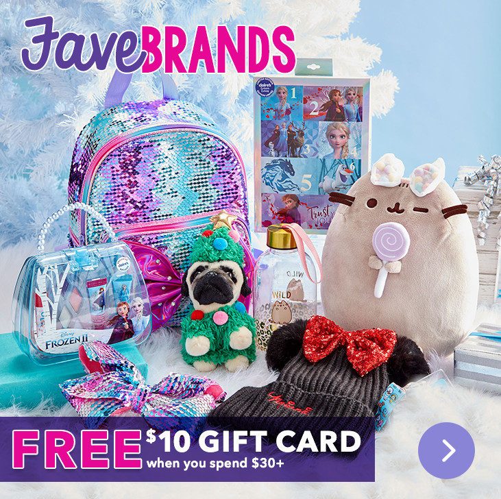 FREE $10 Gift Card! With Purchases $30+