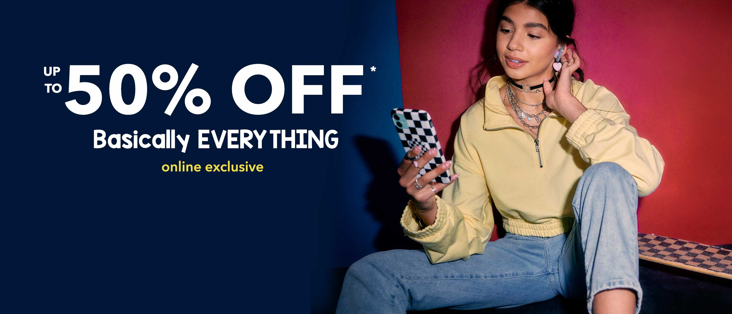 Announcing: Our Big Weekend Sale! Up to 50% Off Almost Everything. Online Only, Ends 26/07.