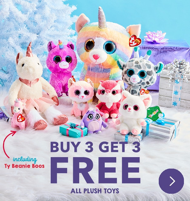 All Plush Toys Buy 3 Get 3 FREE