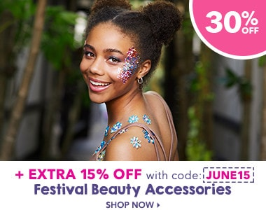 f66041b7e Festival beauty accessories 30% off plus 15% off hair, jewellery & beauty  with