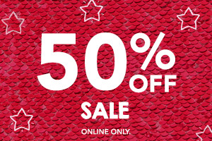 50% off sale online only