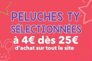 Peluches Ty sélectionnées à 4€ dès 25€ d'achat sur tout le site