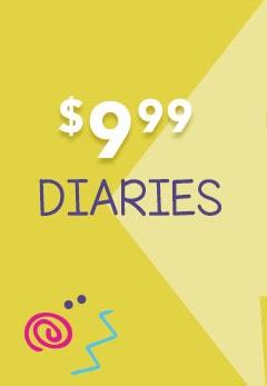 Back to school $9.99 Diaries