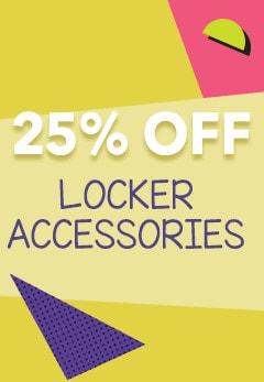 25% OFF Locker Accessories