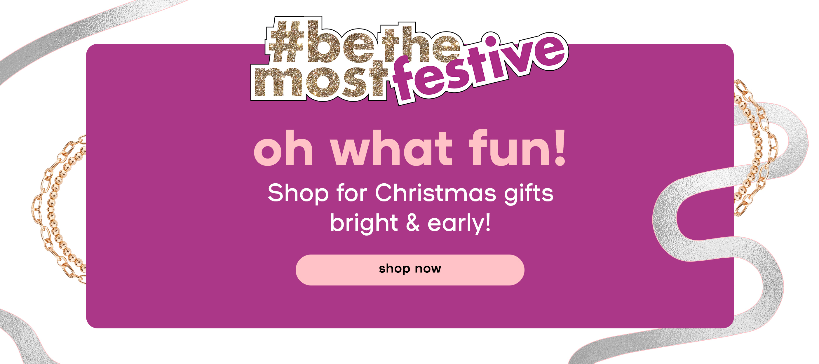 Oh what fun! Shop for Christmas gifts bright & early!