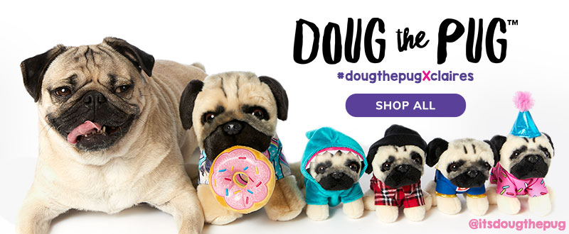 Doug the pug claires dtp soft toy assortment dtp soft toy assortment m4hsunfo