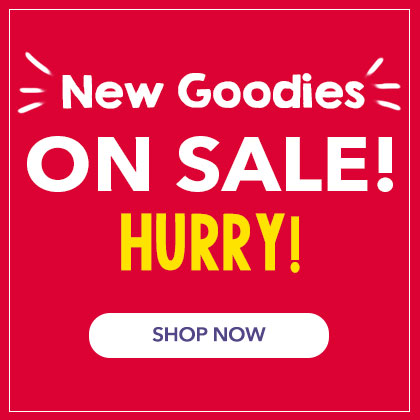 New Goodies On Sale! Hurry! Up to 75% off