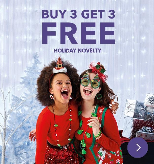 Holiday Novelty Buy 3 Get 3 FREE