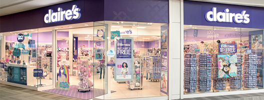 A Claire's Store counter