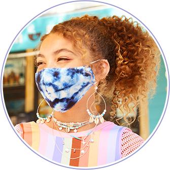 Masques en tissu et autres accessoires