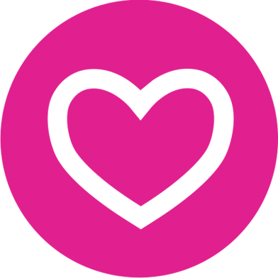 Rewards link heart icon logo